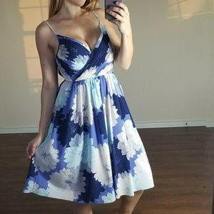 Banana Republic Blue Flower Dress